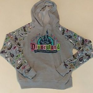 Disneyland gray attraction hoodie size extra small